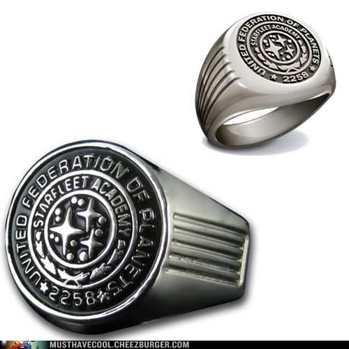 emblem seal ring Star Trek starfleet academy symbol - 6964078848