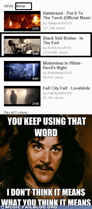 vevo,black veil brides,heavy metal