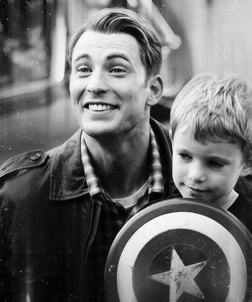 shield kid cute captain america - 6964564224