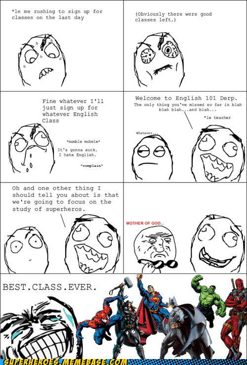 class procrastination english superheroes - 6964573184