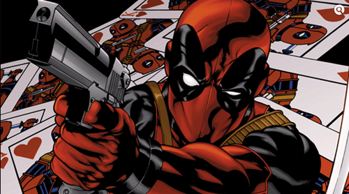 guns,deadpool,cards
