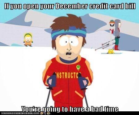 credit card gonna have a bad time bills
