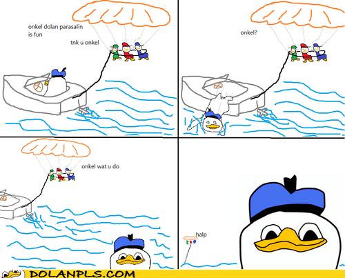 nephews,help,boat,parasailing