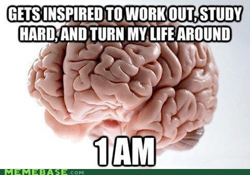 scumbag brain,work out,study