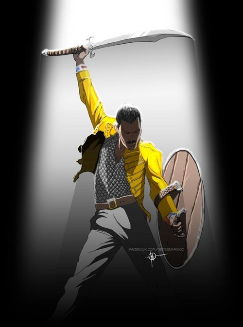 warrior queen freddie mercury warrior queen double meaning - 6965206272