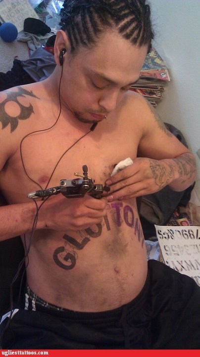 self tattoos glutton belly tattoos - 6965413120