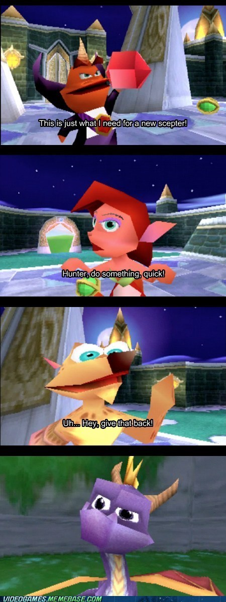comic,video games,spyro,video game logic
