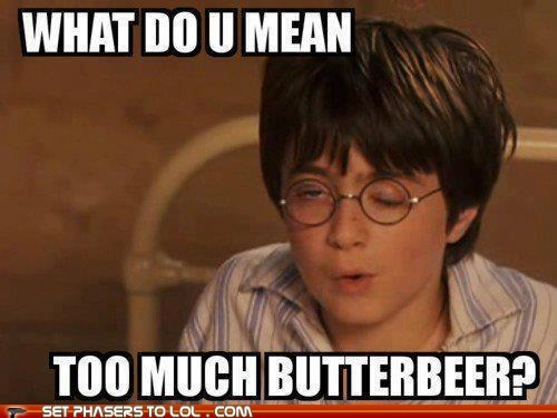 Harry Potter,Daniel Radcliffe,drunk,butterbeer,too much