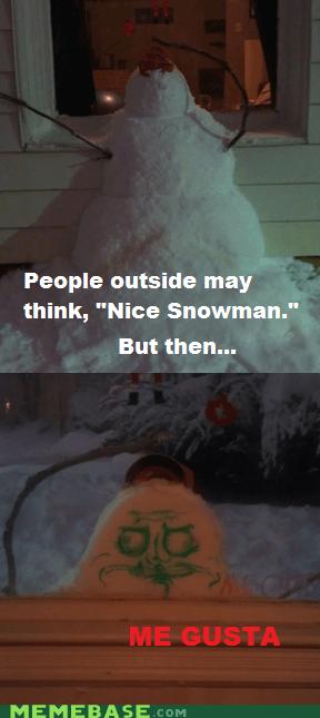 me gusta,creepy,snowman