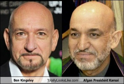 Ben Kingsley Totally Looks Like Afgan President Karsai