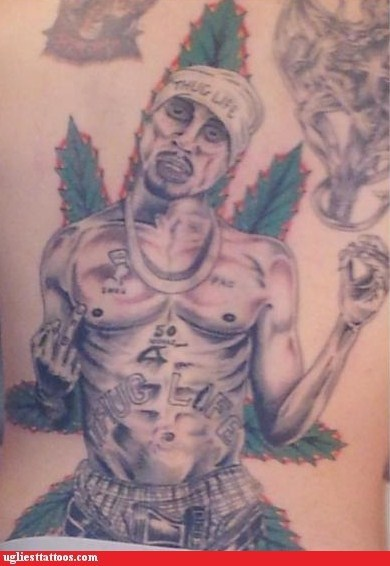 2Pac middle fingers thug life - 6966911488
