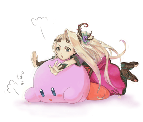 Aww.. Viridi and Kirby..