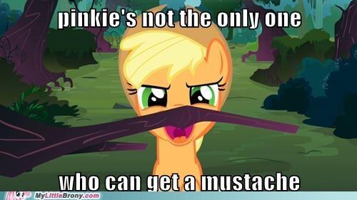 applejack mustache pixarbud88 - 6967150080