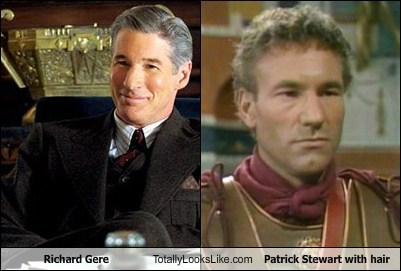 Richard Gere Totally Looks Like Patrick Stewart With Hair - Totally ...