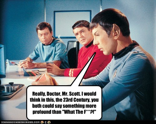 disappointed,scotty,wtf,expressions,McCoy,profound,Spock,DeForest Kelley,Leonard Nimoy,Star Trek,james doohan
