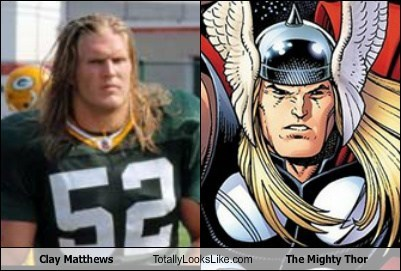 green bay packers,clay matthews,TLL,the mighty thor,comic book,football