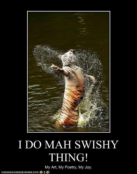 dancing art tigers water swishy poetry - 6968552448