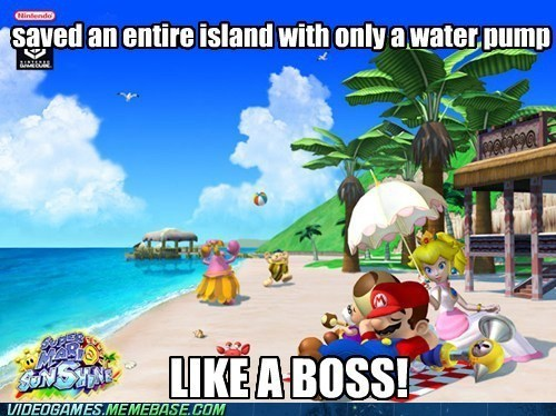 Like a Boss,water pump,super mario sunshine,mario,nintendo