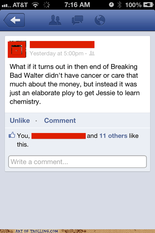breaking bad,TV,facebook,Chemistry