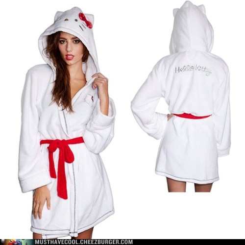 hello kitty kitties bathrobes - 6969615360