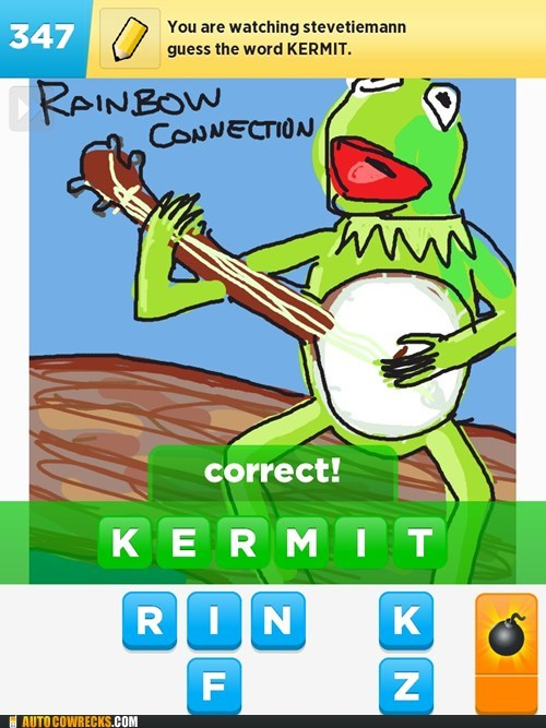 muppets,kermit,draw something,frog