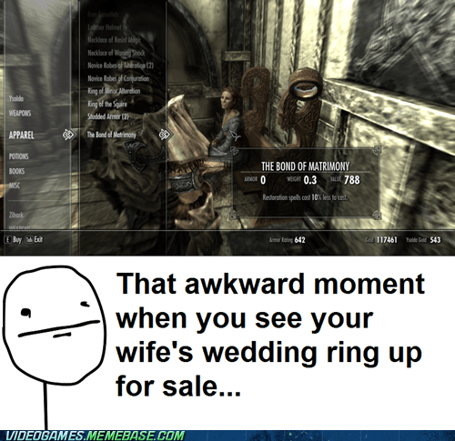 Sad wedding ring matrimony Skyrim - 6970320896