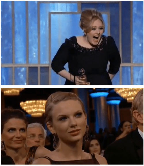 taylor swift,adele,golden globes 2013