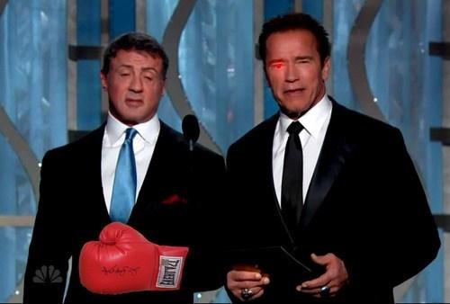 golden globes 2013 Arnold Schwarzenegger Sylvester Stallone