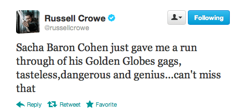 golden globes 2013,Russell Crowe