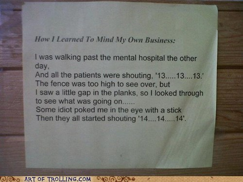 mental hospital mind story business