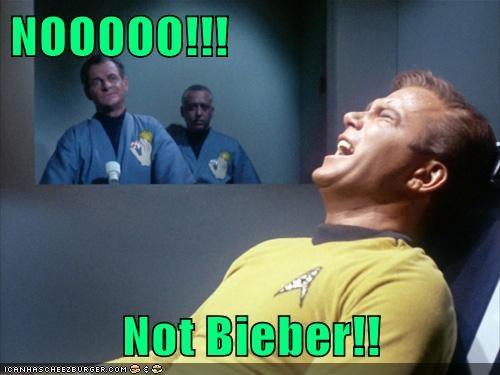 noooo torture William Shatner cruel justin bieber