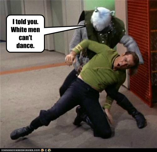 hurt Captain Kirk white men Star Trek William Shatner dance Shatnerday