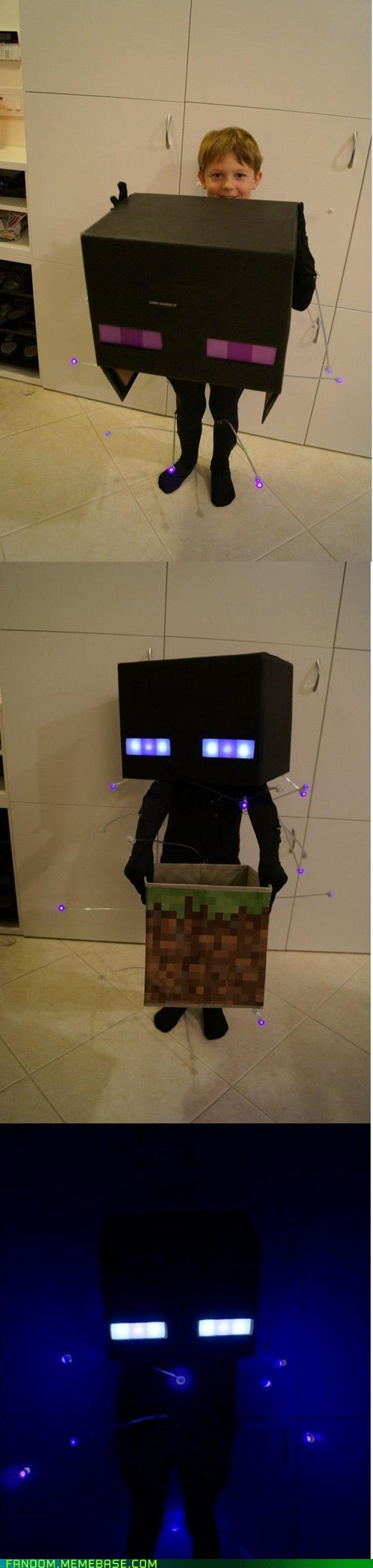 enderman,cosplay,kids,cute,minecraft,video games