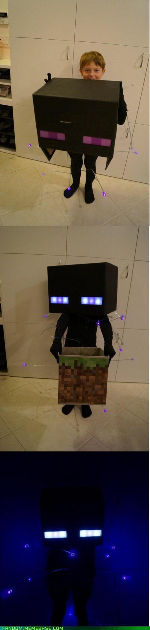 Glowing Enderman Costume