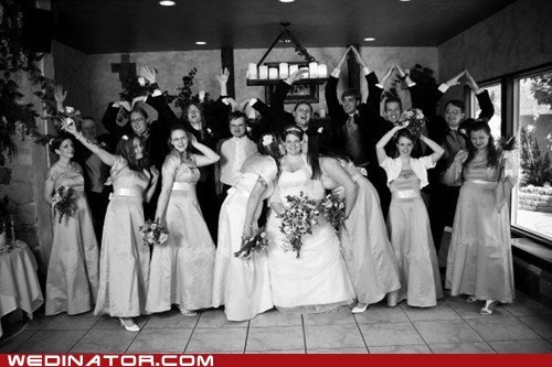 wedding party,pose,black and white,dance,ymca