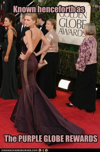 taylor swift butt golden globes purple
