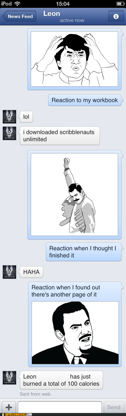 homework,rage faces,facebook mobile
