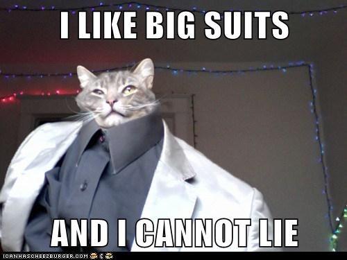 I LIKE BIG SUITS  AND I CANNOT LIE