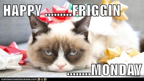HAPPY .........FRIGGIN  ........MONDAY