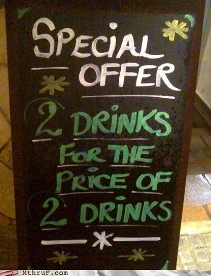 what a deal special offer chalkboards funny