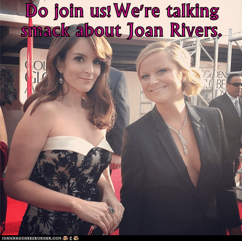 golden globes,talking smack,tina fey,red carpet,Amy Poehler,joan rivers