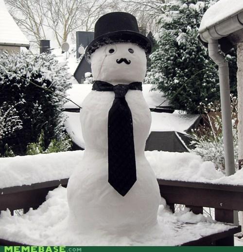 fancy IRL winter snowman - 6971792896