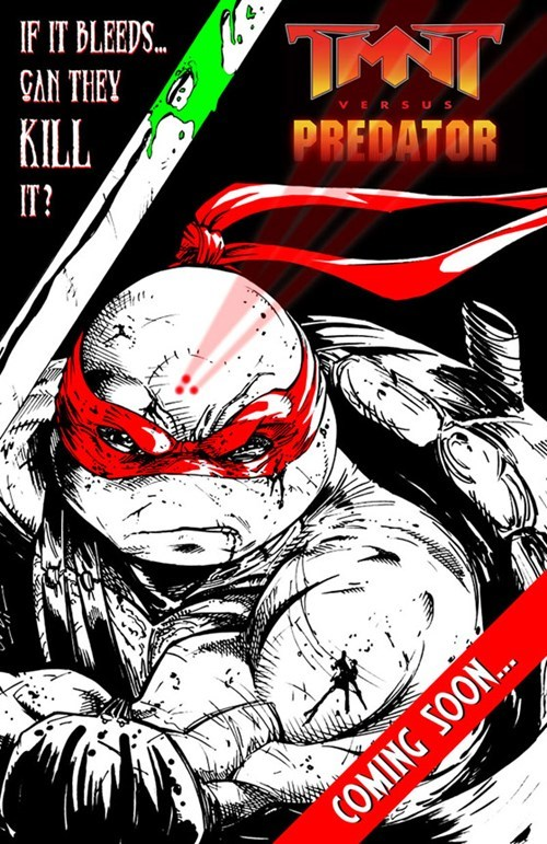 TMNT,comics,awesome,Predator
