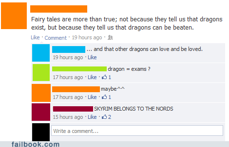 nords dragons Skyrim