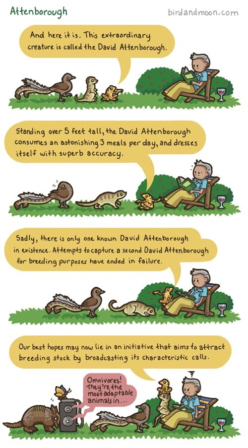 Nature Show endangered david attenborough documentary comic - 6972236288