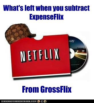 What's left when you subtract ExpenseFlix From GrossFlix