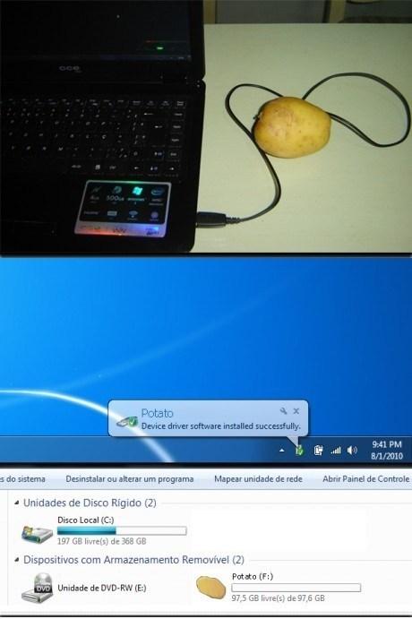 drive,potato,computer