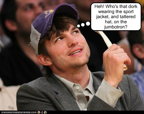 dork embarrassing me ashton kutcher jumbotron who stupid - 6972526848