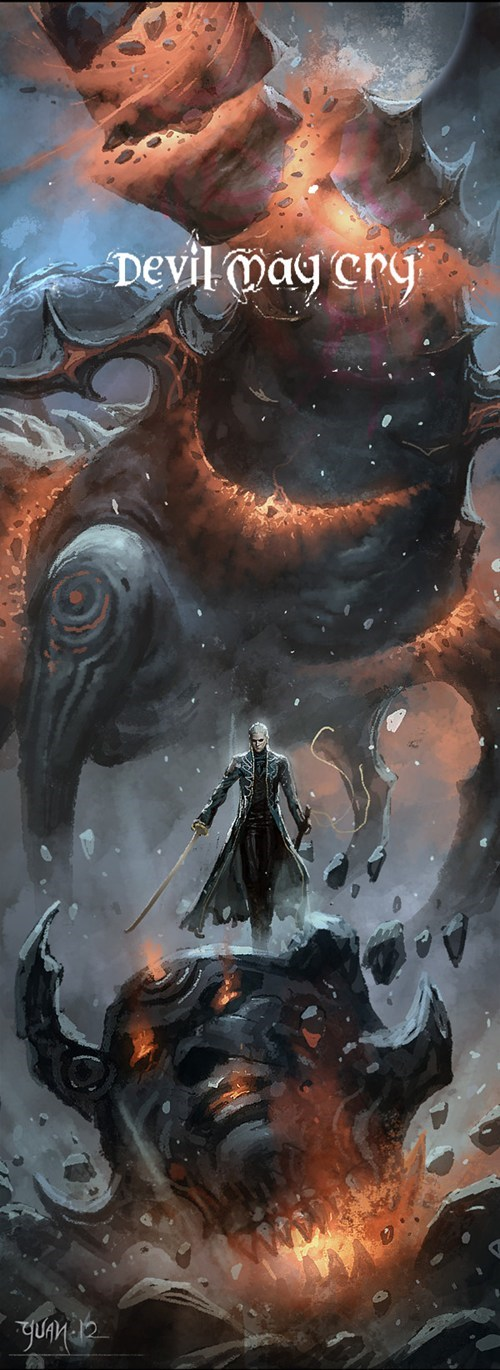 devil may cry art awesome vergil