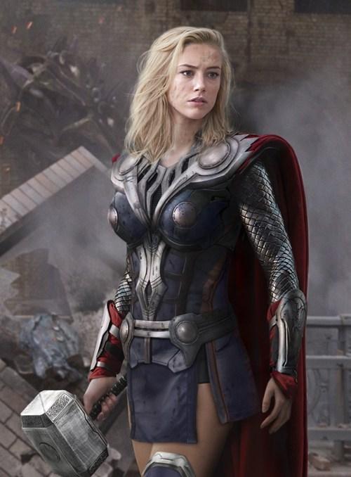 Thor gender swap Fan Art The Avengers mjolnir rule 63 - 6972688640